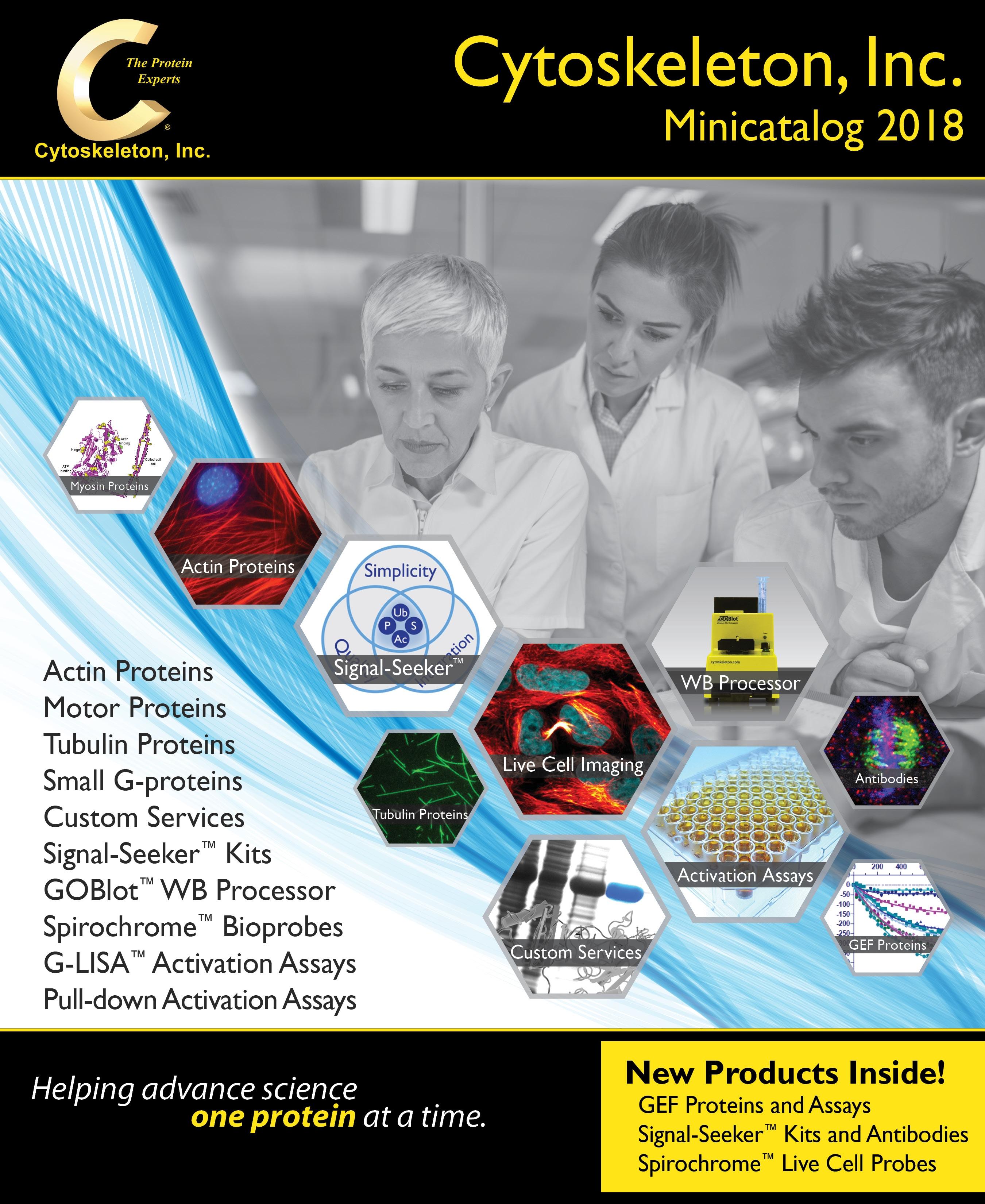 2018 Cytoskeleton Minicatalog Cover